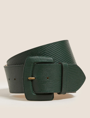 Marks and Spencer Leather Lizard Effect Waist Belt
