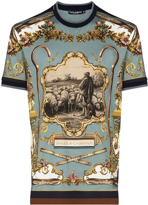 Dolce & Gabbana shepherd print T-shirt