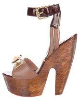 Gianmarco Lorenzi Leather Embellished Sandals