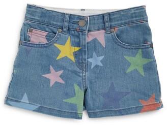 Stella McCartney Kids Star Print Denim Shorts (3-14 Years)
