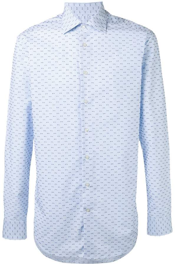 Etro striped embroidered shirt