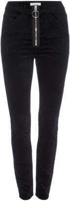 Good American Good Waist Velvet Exposed Zip Pants