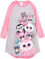 Intimo Beanie Boo Party Raglan Nightgown - Girls