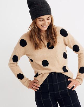 Madewell Dot Graystone Pullover Sweater in Coziest Yarn