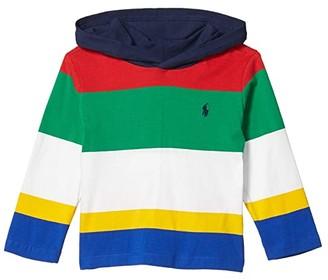 Polo Ralph Lauren Kids Striped Cotton Jersey Hooded Tee (Little Kids/Big Kids) (RL 2000 Red Multi) Boy's Clothing