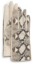 Guanti Python/Napa Leather Gloves, Roccia