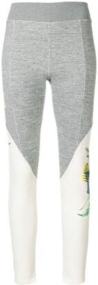Mr & Mrs Italy Waffle Texture Printed Leggings