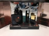 Saint Laurent Black Opium by Set: EDP Spray 1.3 Fl Oz, Mascara 0.06 Fl Oz, Nail Lacquer .34 Fl. Oz