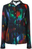 Y-3 digital print track jacket - women - Cotton/Polyester/Spandex/Elastane/Modal - XS