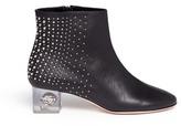 Alexander McQueen Floating skull heel stud leather boots