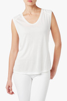 7 For All Mankind Combo Tee In Blanc De Blanc