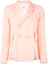 Ports 1961 side-slit blazer - women - Silk/Cotton/Wool/Viscose - 38