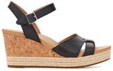 UGG Cloverdale Leather Wedge Sandals