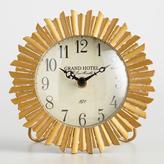 Round Antique Gold Sunburst Clock