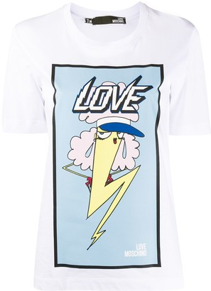 Love Moschino graphic print T-shirt