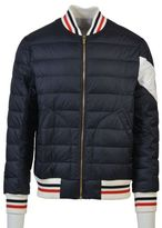 Moncler Gamme Bleu Navy Quilted Bomber Jacket