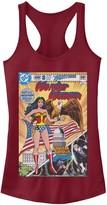 Licensed Character Juniors' DC Comics Wonder Woman Vintage Comic Cover Tank Top