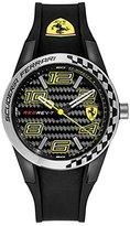 Ferrari Scuderia Men's Quartz Plastic and Silicone Casual Watch, Color:Black (Model: 830337)