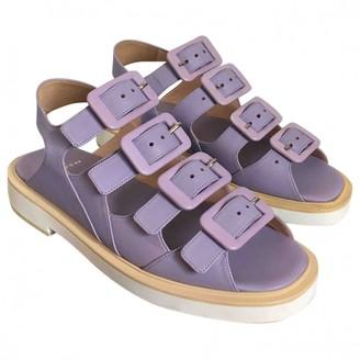 Carven Purple Leather Sandals