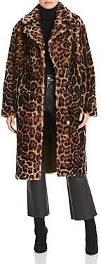 Maximilian Furs Leopard Print Shearling Coat - 100% Exclusive