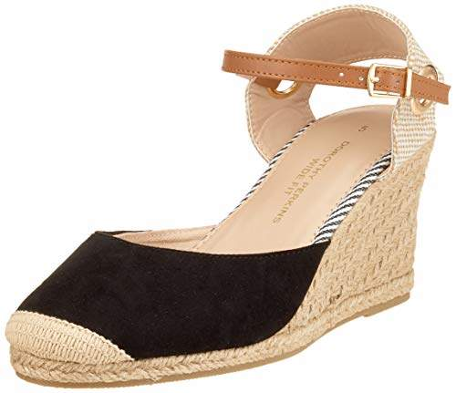 413a468b006 Women's W: Raya Espadrille Wedge Sling Back Sandals, (Black 010), 3 (36 EU)
