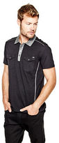 GUESS Men's Meuse Slub Polo