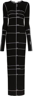Vetements body measurements-print maxi dress