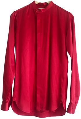Saint Laurent Red Silk Shirts