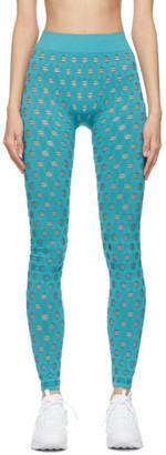 MAISIE WILEN Blue Perforated Leggings