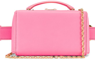 Mark Cross Grace Box Belt Bag in Flamingo | FWRD