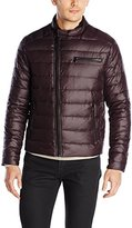 Kenneth Cole New York Men's Asymmetric Down Moto Jacket