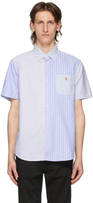 Polo Ralph Lauren Blue and White Striped Fun Short Sleeve Shirt