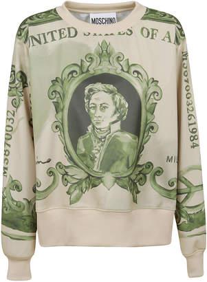 Moschino Patterned Technical Fabric Sweatshirt