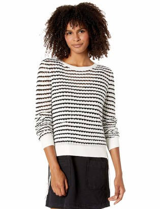 BB Dakota Women's Spoiler Alert Stripe Sweater with lace up Sides