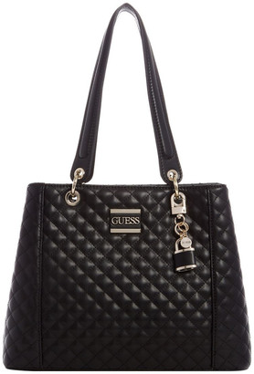 GUESS QD669136BLA Kamryn Double Handle Tote Bag