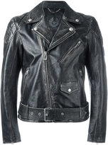 Belstaff distressed biker jacket - men - Calf Leather - 48