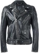 Belstaff distressed biker jacket - men - Calf Leather - 50