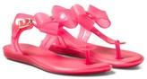 Mini Melissa Bright Pink Solar Bow Sandals