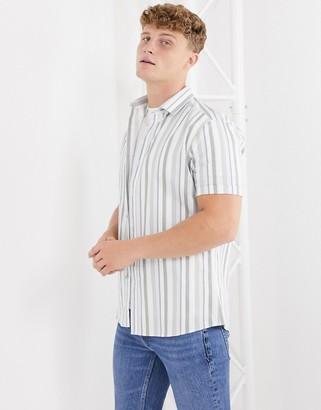 Topman shirt in green stripe