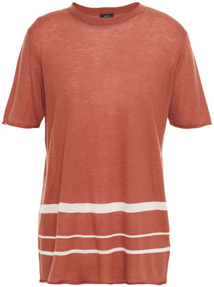 Joseph Striped Cashmere-blend Top