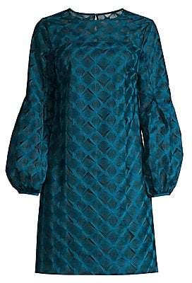 Trina Turk Women's Eastern Luxe Kai Puff-Sleeve Embroidery Dress - Size 0