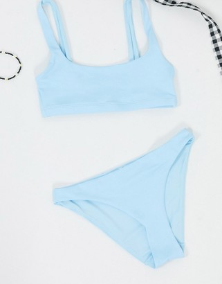 Weekday low-rise bikini brief in ice blue