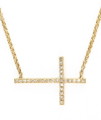 Effy D'Oro 14K Yellow Gold and Diamond Cross Necklace