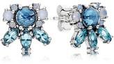 Pandora Stud Earrings - Glass & Sterling Silver Patterns of Frost