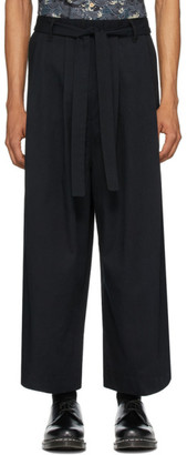 Naked & Famous Denim Denim SSENSE Exclusive Black Wide Trousers