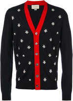Gucci bee and star cardigan - men - Wool - L