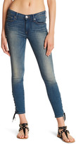True Religion Halle Lace-Up Crop Ankle Jean