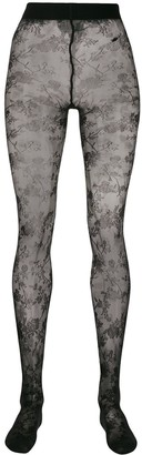 Wolford Marie floral patterned tights