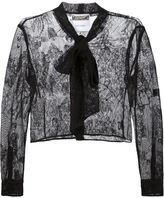 Moschino lace jacket - women - Cotton/Polyester/Rayon - 40