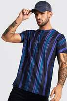 MAN Signature Vertical Stripe T-Shirt